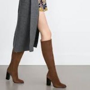 Zara Shoes - Suede knee high boots
